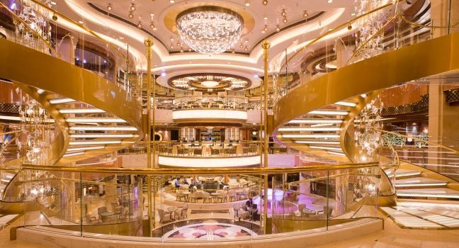 Royal princess review fodor 39 s for The world cruise ship interior