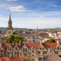 Cityscape, Rooftops, Oxford, England