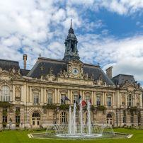 Fountain, Exterior, Town Hall, Tours, The Loire Valley, France