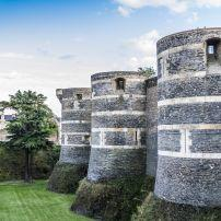 City Wall, Chateau d'Angers, The Loire Valley, France