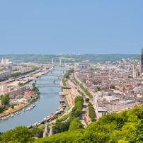 Cityscape, Sena River, Rouen, Normandy, France