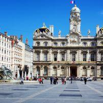 City Hall,, Plaza, Fountain, Terreaux Square, Lyon, France