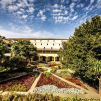 Arles Hospital Courtyard, Espace Van Gogh, Provence, France