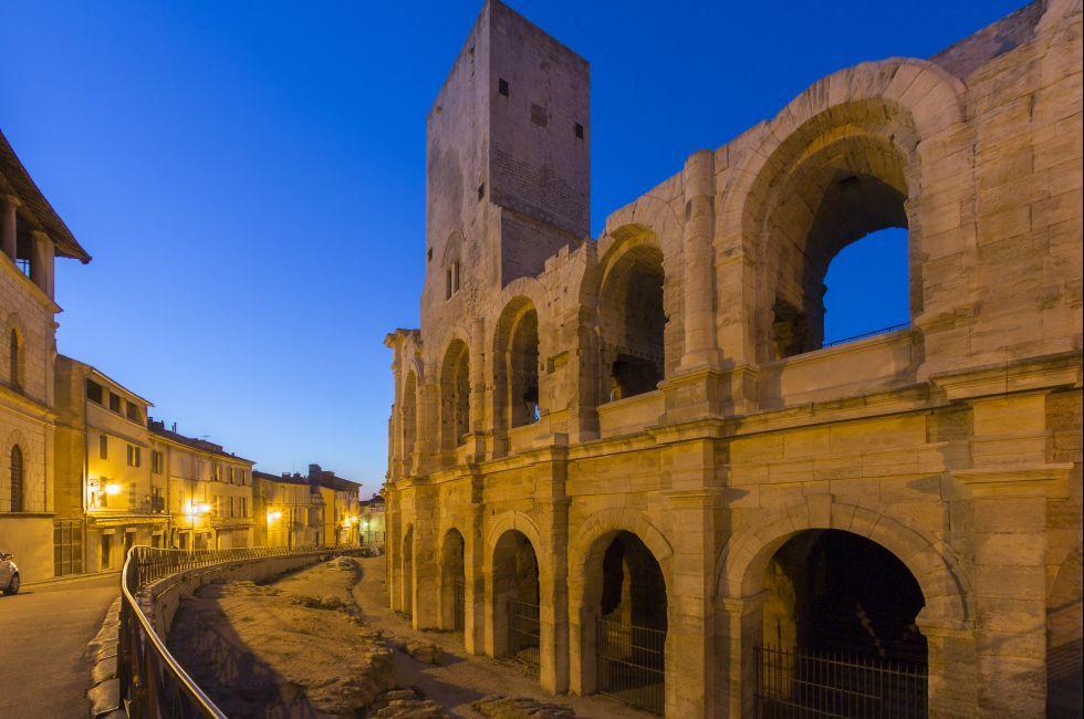 Ruins, Roman, Ampitheater, Arles, France