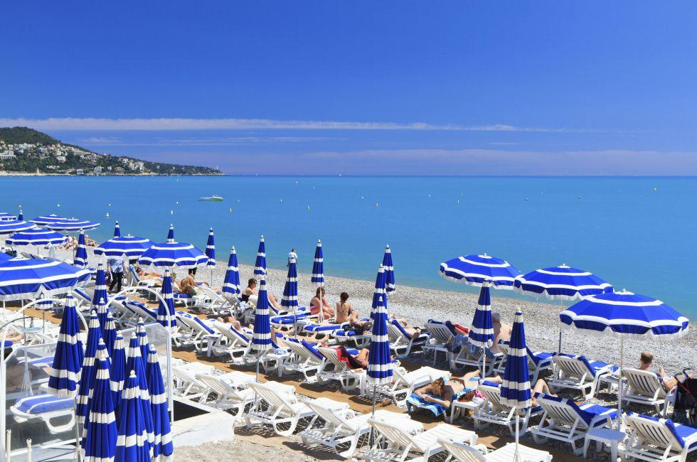 Beach, Nice, The French Riviera, France