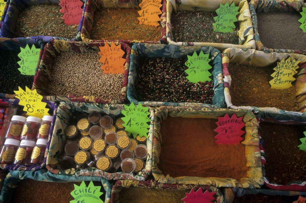 Spices on the market, Nice, France