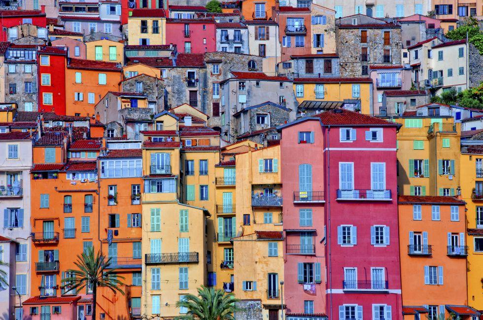 Houses, Provence Village, Menton, The French RIvera, France