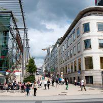 Street, Shops, Schloessle Galerie, Pforzheim, The Black Forest, Germany