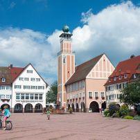 Upper Market Square, City Hall, Freudenstadt, Black Forest, Baden-Württemberg, Germany