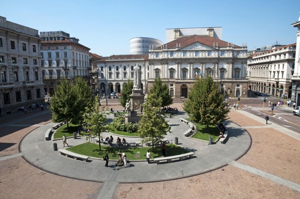 Public Square, La Scala, Milan, Italy