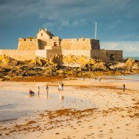 Fort, Beach, Saint Malo, France