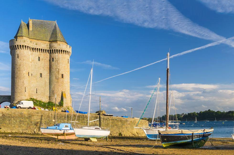 Sailboat, Solidor Tower, Saint Malo, France