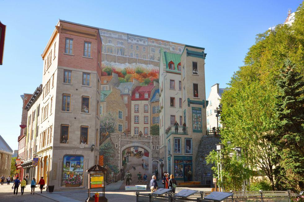 Mural, Lower Town, Quebec City, Canada