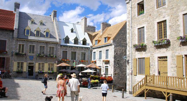 Street, Place Royale, Quebec City, Canada