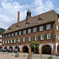 Street, Town Hall, Apirsbach, The Black Forest, Germany