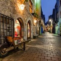 Street, Old Town, Galway City, County Clare Galway and the Aran Islands, Ireland