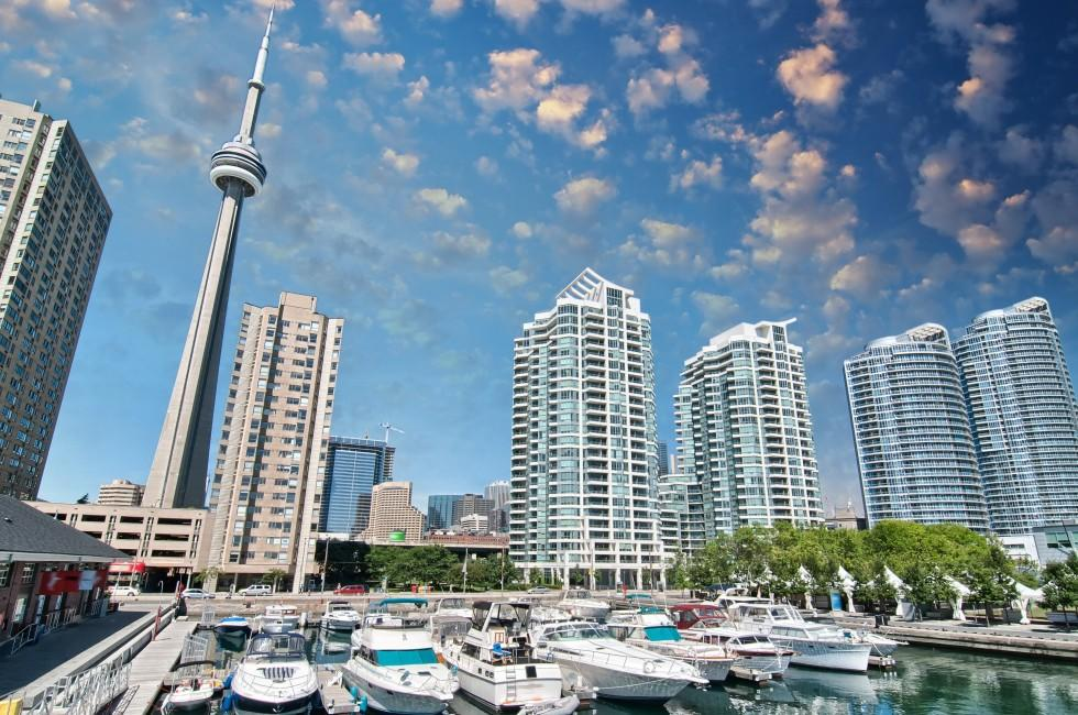 CN Tower, Waterfront, Harbor, Harbourfront, Toronto, Canada