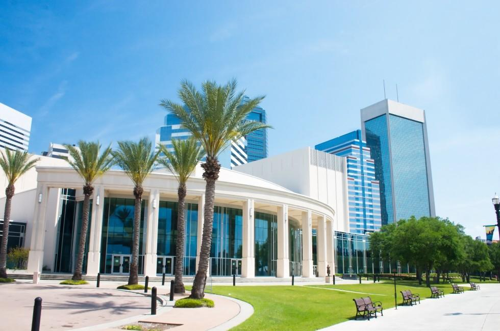 Theatre, Performing Arts Center, Downtown, Skyline, Cityscape, Jacksonville, Florida, USA