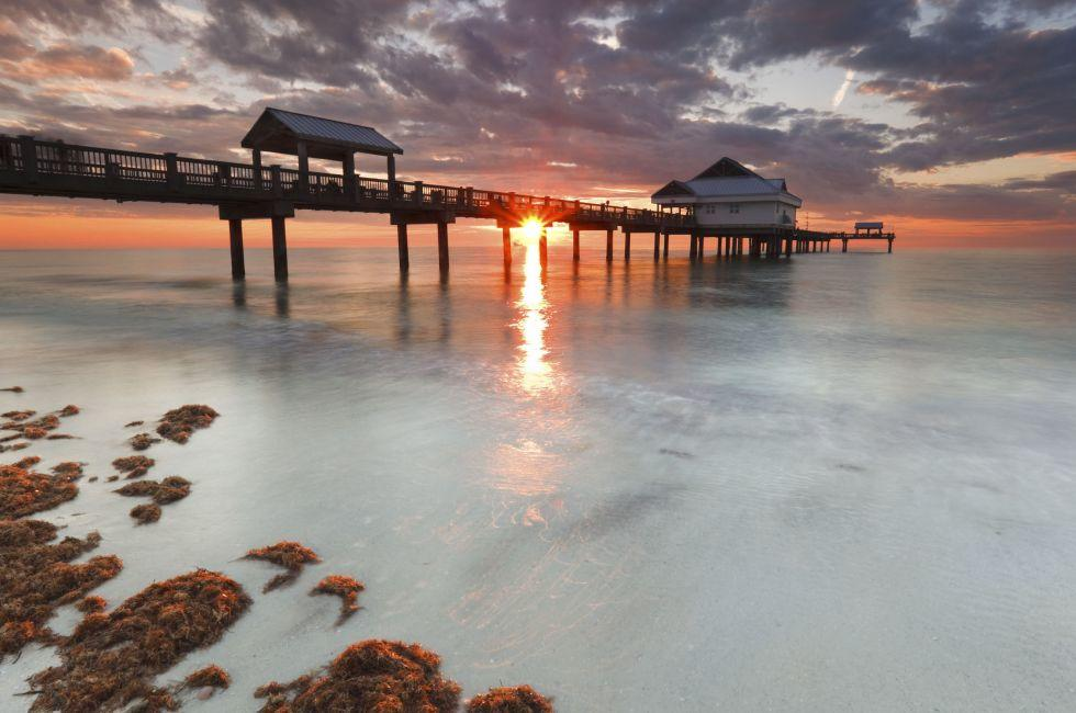 Sunset, Clearwater Beach, The Tampa Bay Area, Florida, USA