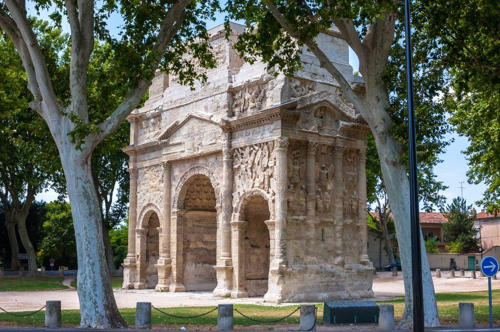 Triumphal Arch of Orange, Orange, Provence, France
