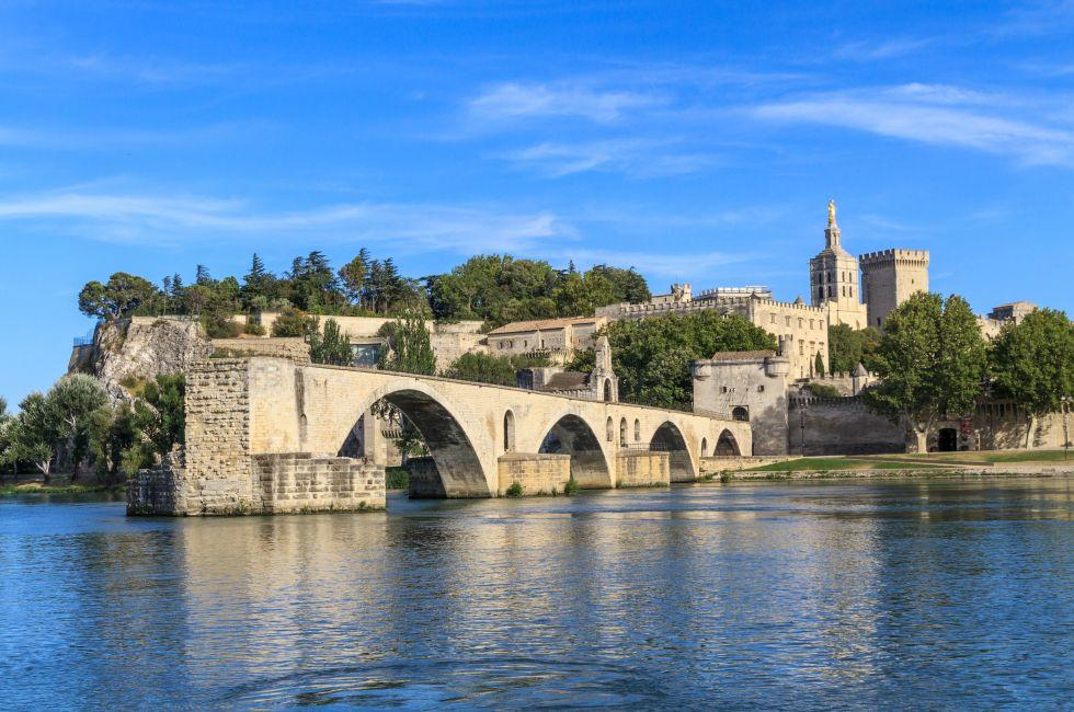 Palace of the Popes, Pont Saint-Benezet, Provence, Avignon, France