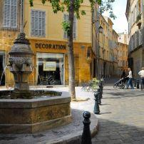 Fountain, Street, Aix en Provence, Provence, France