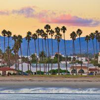 Sunset, Mountains, Santa Barbara, Santa Barbara and the Central Coast, California, USA
