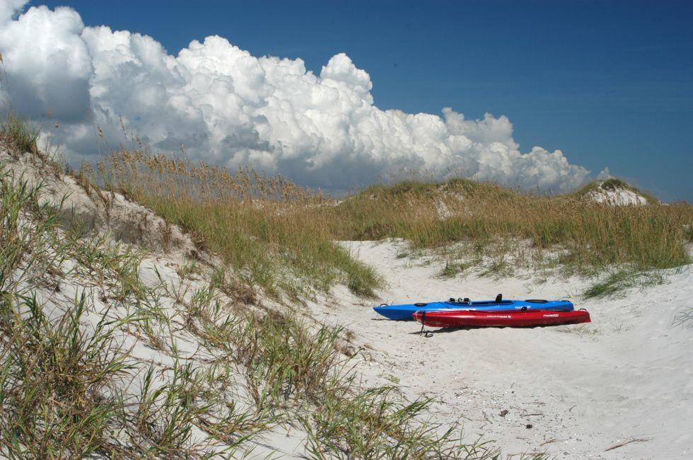 Kayaks, Beach, Emerald Isle, North Carolina