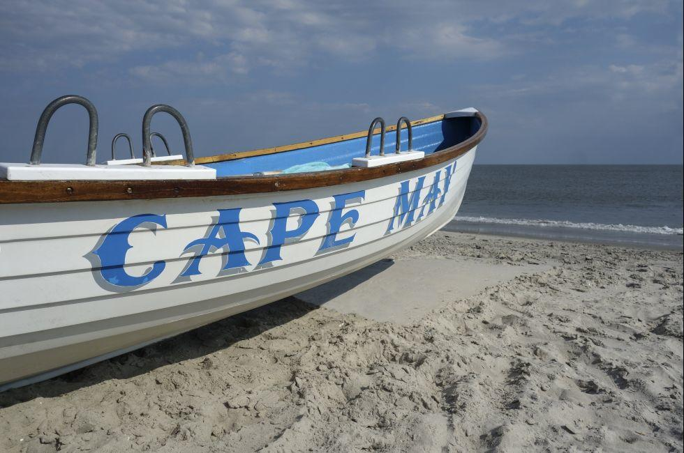 Lifeguard Boat, Beach, Cape May, New Jersey