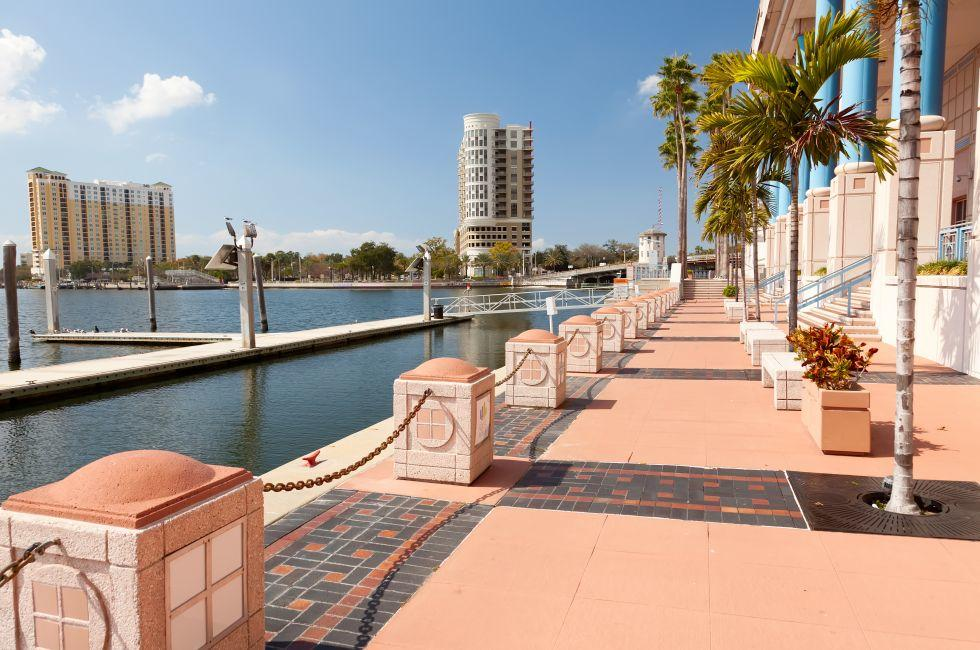Downtown, Waterfront, Skyline, Tampa Bay, Florida, USA