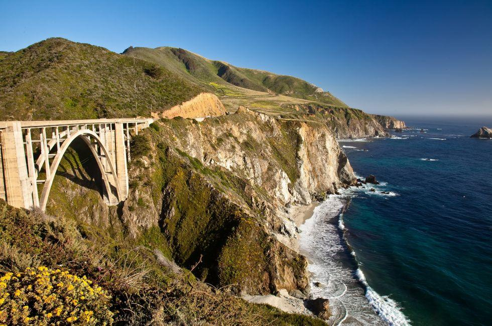 Coastline, Bixby Creek Bridge, Big Sur, Santa Barbara and the Central Coast, California, USA