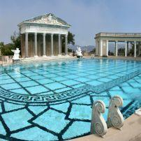 Statue, Swimming Pool, Hearst Castle, San Simeon, Santa Barbara and the Central Coast, California, USA