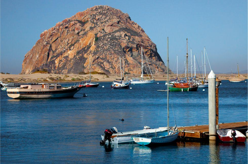 Boats, Marina, Morro Bay, Santa Barbara and the Central Coast, California, USA