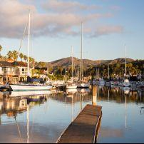 Sunset, House, Marina, Ventura, Santa Barbara and the Central Coast, California, USA