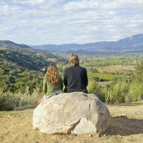Couple, Rock, Meditation Mount's Point, Ojai Valley, California