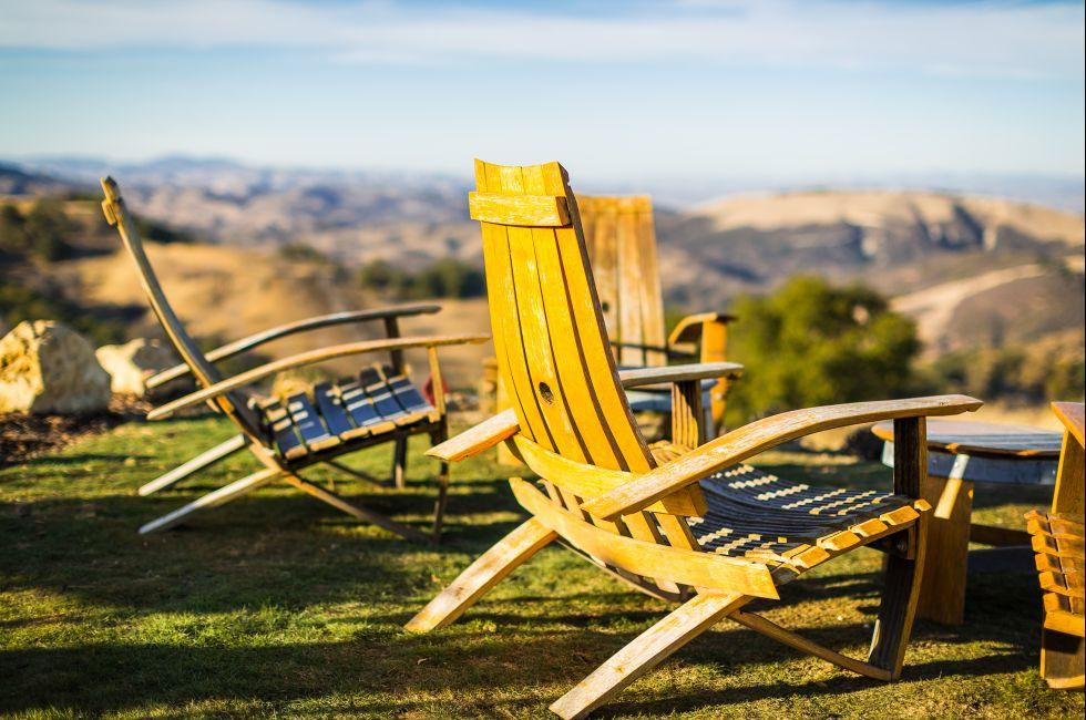 Adirondack Chairs, Winery, Paso Robles, California