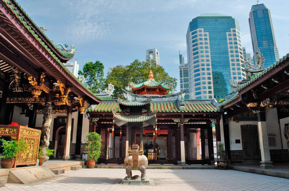 Thian Hock Keng Temple, Chinatown, Chinatown and Tiong Bahru, Singapore, Asia.