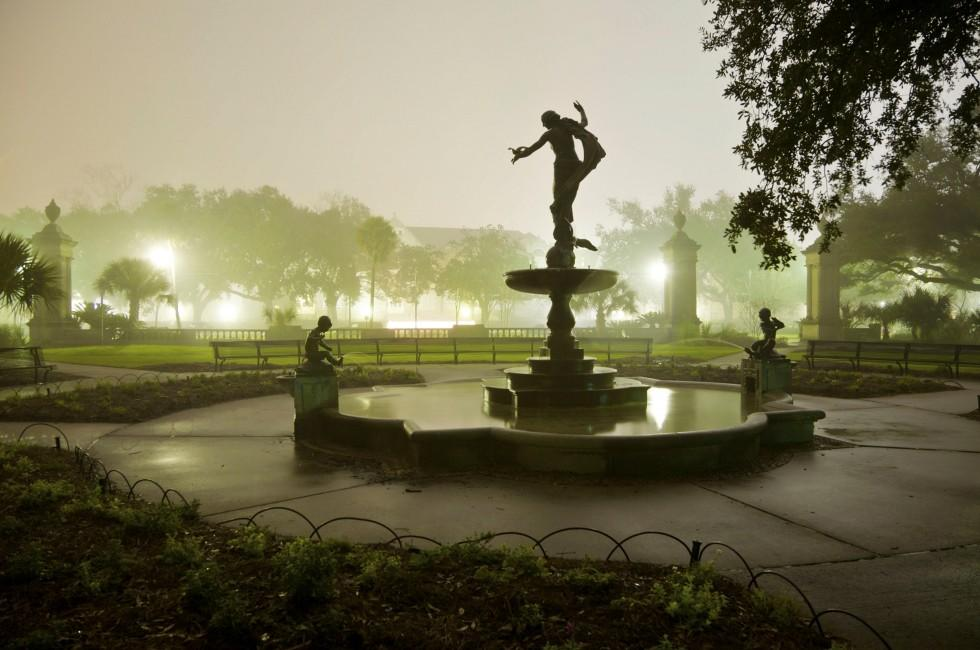 Fountain, Audubon Park, Uptown and Carrollton-Riverbend, New Orleans, Louisiana, USA