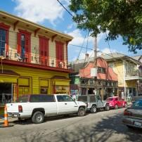 Shops, Frenchmen Street, New Orleans, Louisiana, USA