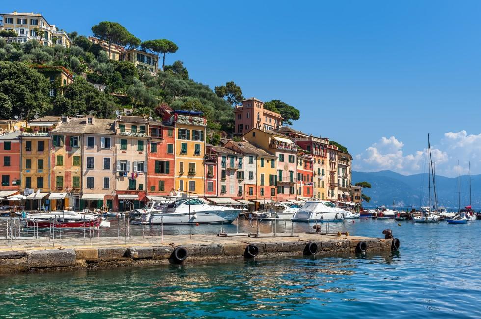 Boats, Marina, Portofino, The Italian Riviera, Italy