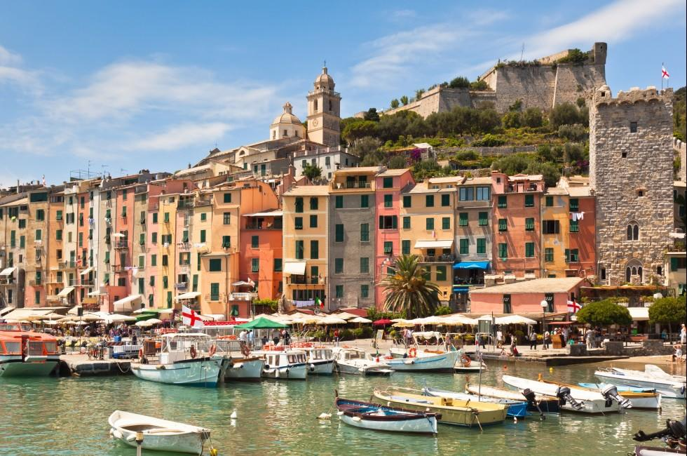 Boats, Marina, Portovemere, The Italian Riviera, Italy