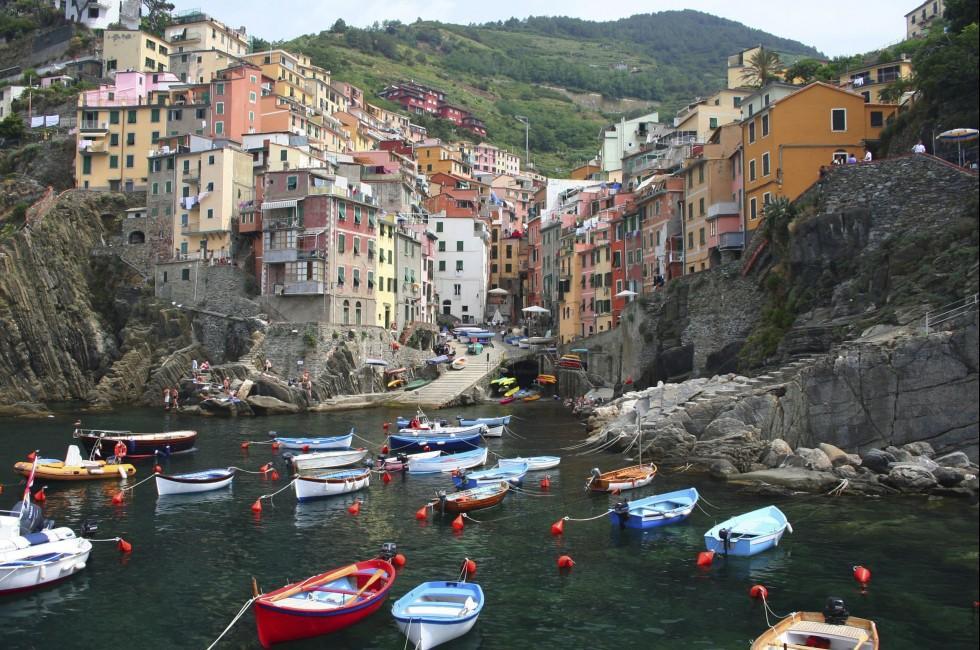 Boats, Riomaggiore, Cinque Terre, The Italian Riviera, Italy