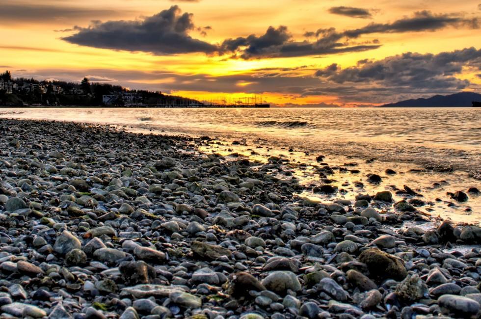 Sunset, Kitsilano Beach, Vancouver, Canada
