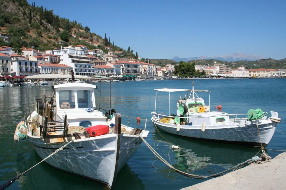 Boats, Harbor, Gythion, Peloponnese, Greece