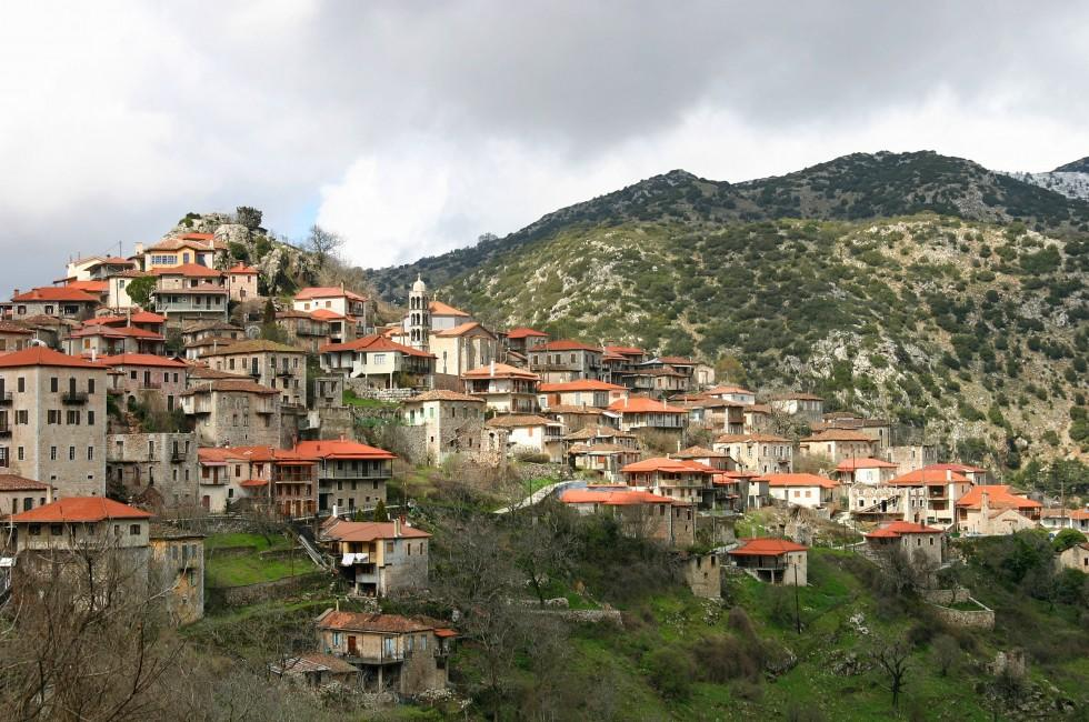 Cityscape, Dimitsana Village, Peloponnese, Greece