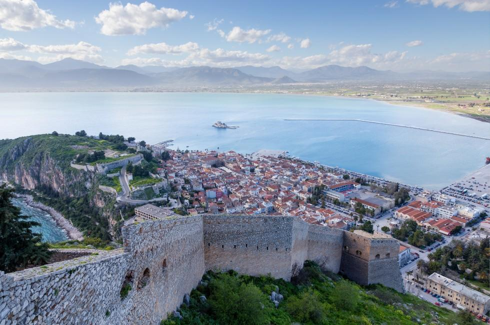 Overlook, Coastline, Nafplio, Peloponnese, Greece