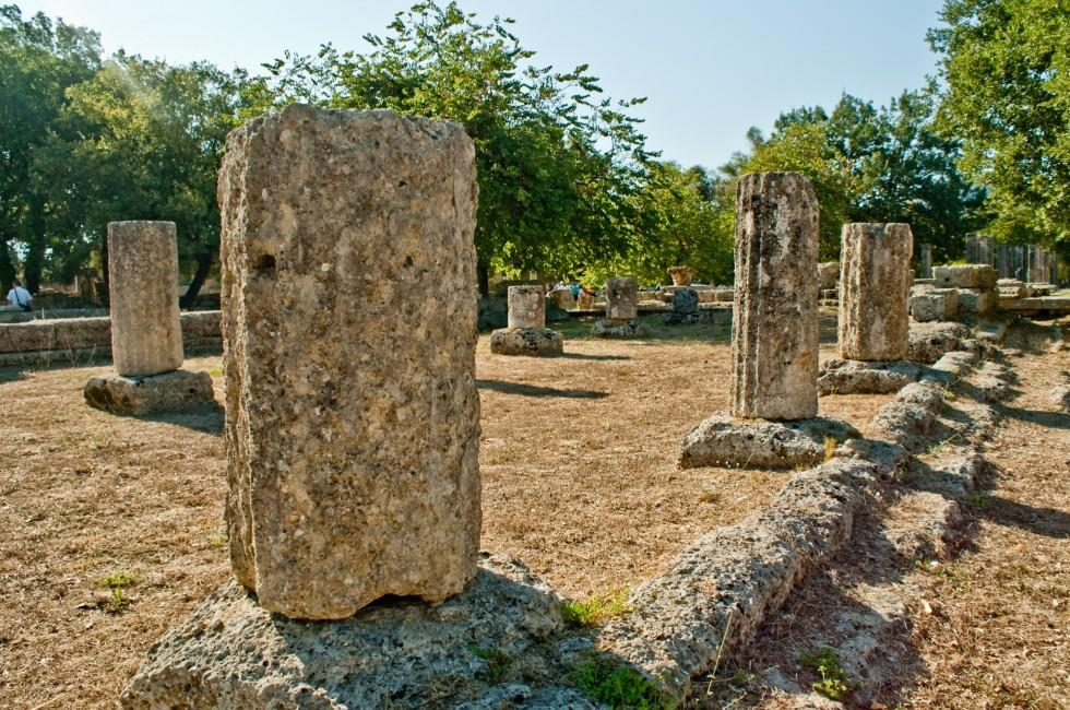 Ruins, Olympia, Peloponnese, Greece