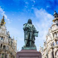 Statue, Keyserlei Street, Antwerp, Belgium