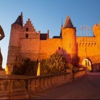 Statue, Steen Castle, Antwerp, Belgium