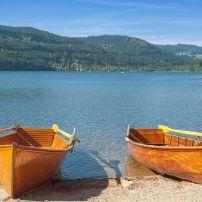 Boats, Lake, Titisee, Black Forest, Germany